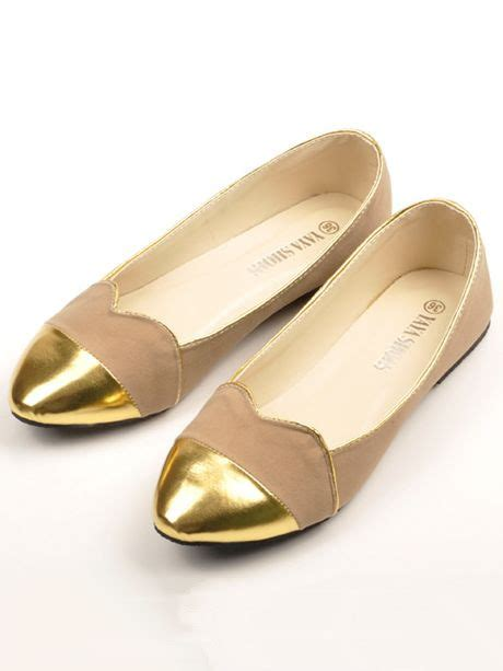 pretty flat shoes new pretty golden pointed toe ruffled edge flat shoes