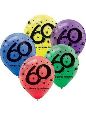 60th birthday balloons 60 years the party continues latex 3825 60th birthday party 60th