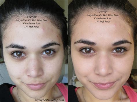 Maybelline Fit Me Foundation Review review with before and after photos maybelline fit me