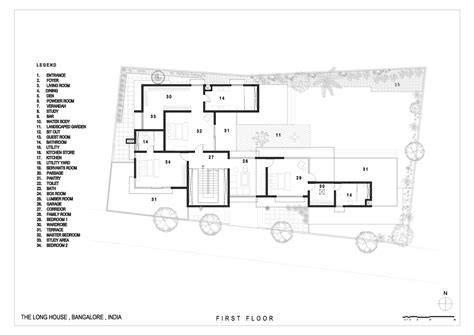 Narrow Cottage Plans gallery of the long house khosla associates 18