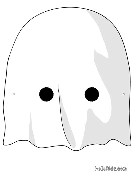 printable halloween mask cutouts ghost mask printable masks for kids print on cardstock
