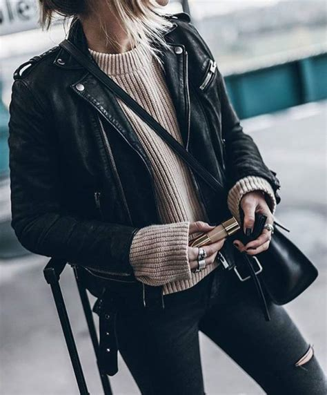 9 Edgy Leather Jackets For Winter by Best 25 Edgy Fall Ideas On Fashion