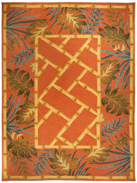 Tropical Palms Bamboo Rug Tropical Rugs