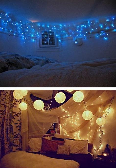 christmas lights bedroom room decor with lights
