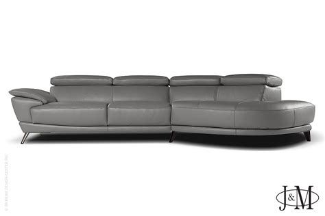 grey leather sectional with chaise marisol italian leather sectional right chaise grey j m