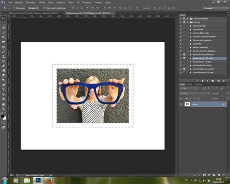 photoshop cornice azioni predefinite in photoshop cc cornici