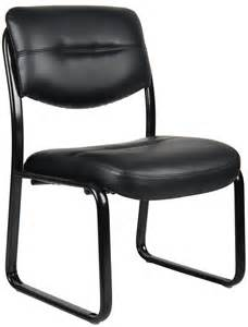 office guest chairs b9539 armless leather sled office guest chair