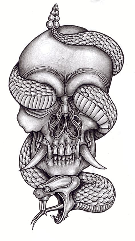skull and snake tattoo design tattoos que ideas by shelley dunn