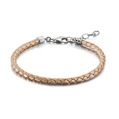 chamilia h samuel chamilia blush braided leather one size bracelet h samuel