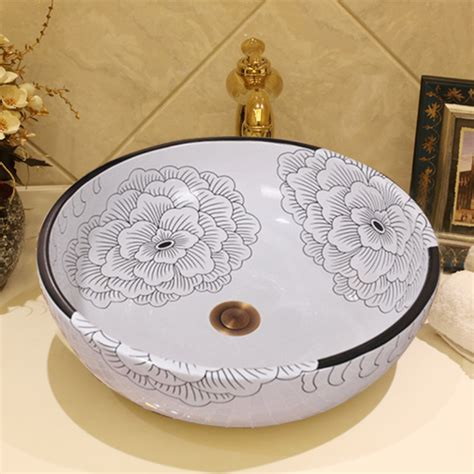 Handmade Ceramic Sinks - popular flower vessel sink buy cheap flower vessel sink