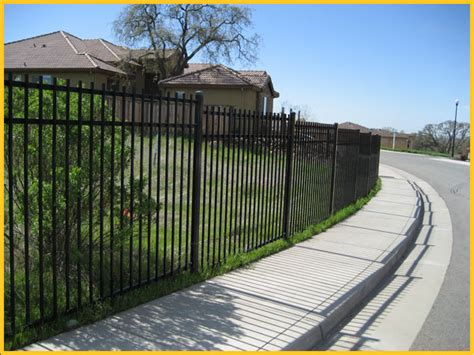 front yard metal fences wrought iron fence san mateo ca