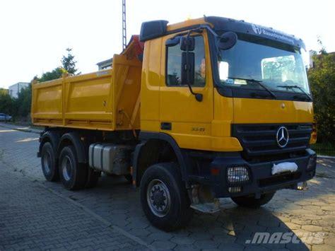 mercedes pickup truck 6x6 mercedes benz actros 3341ak mp2 6x6 r 2007 kipper meiller