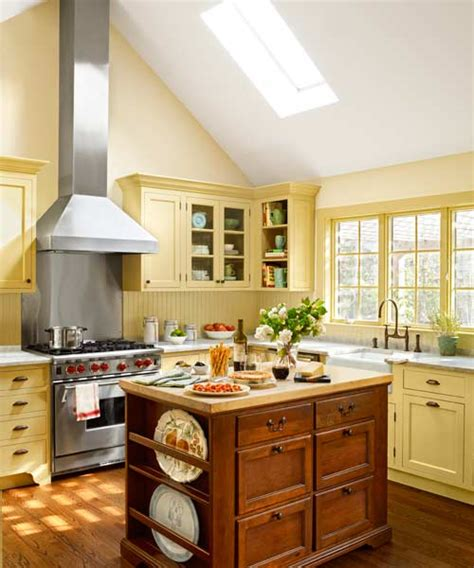 cottage certain ideas for a yellow kitchen afreakatheart yellow and green cottage kitchen