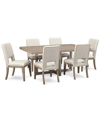 loire collection dining table chair altair dining furniture set 7 pc dining table 6 side chairs created for macy s