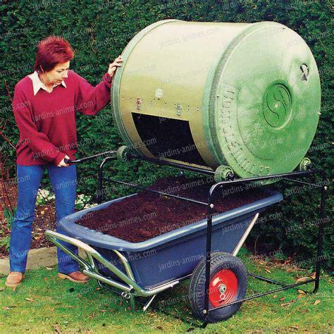 composteur de jardin composteur 224 tambour compartiment simple 650litres composteur de jardin
