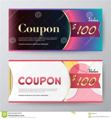 coupon cards template coupon card template promotion card vector stock stock
