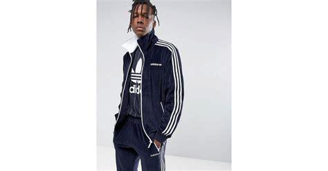 Original Adidas Osaka Velour Track Jacket Originals Cv8959 lyst adidas osaka velour beckenbauer jacket in navy cv8959 in blue for