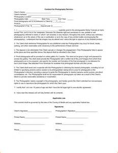 Photographer Agreement Template 10 photography contract template contract template