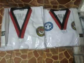 Seragam Taekwondo Bahan Drill penjual seragam taekwondo arsa sport