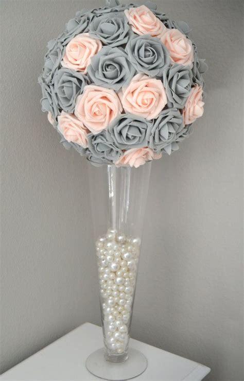 Starry Pink Bouquet Graduation Paper Flower pink blush gray wedding centerpiece flower pomander wedding decor