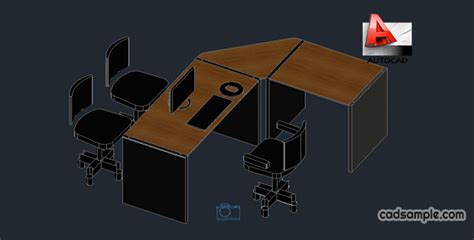 3d Cad Blocks Furniture Free by Office Furniture 3d Autocad Drawing Free Dwg 187 Cadsle