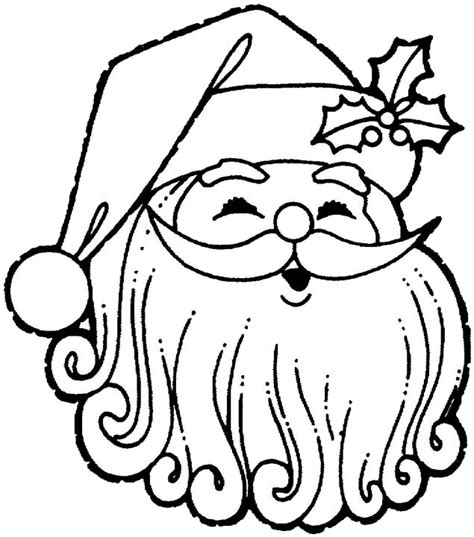 free coloring pages of vintage santa claus