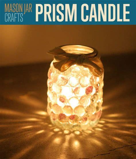 jar craft ideas jar crafts prism jar candle light