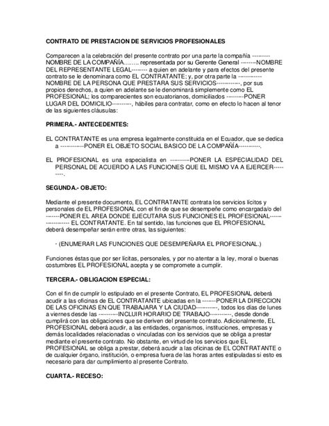 contrato de prestaci 243 n de servicios contratante municipio formato de contrato servicios profesionales contrato de