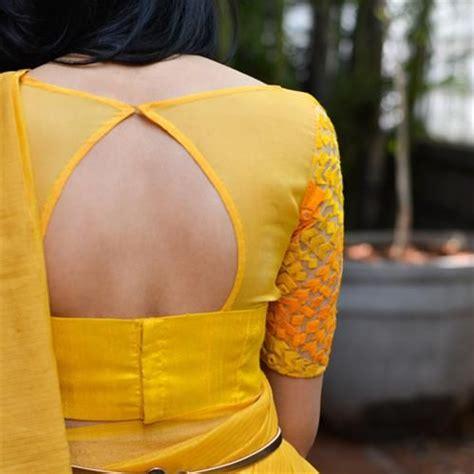 Simple Ribbon Blouse simple stylish trendy blouse back neck net sleeve designs