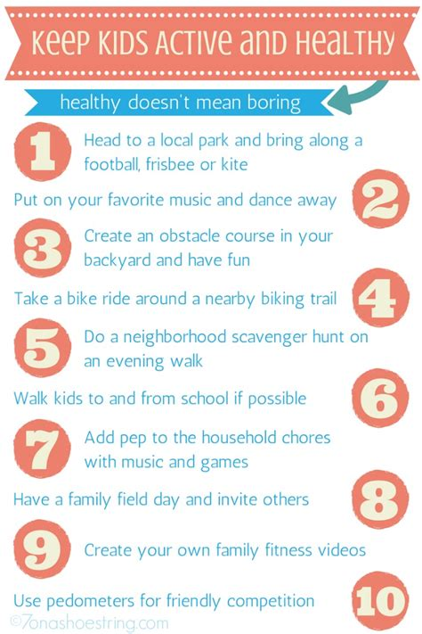 7 To Keep Your Children Active by Tips To Keep Active And Healthy Horizon Organic
