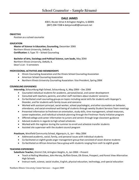 substance abuse counselor resume sample un mission