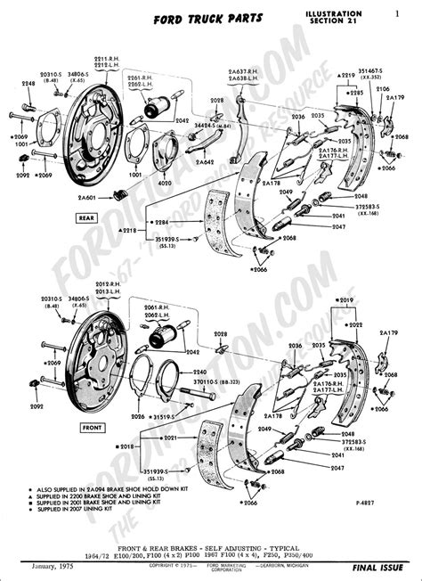 Where can I get a diagram for the rear brakes on a 70 ford