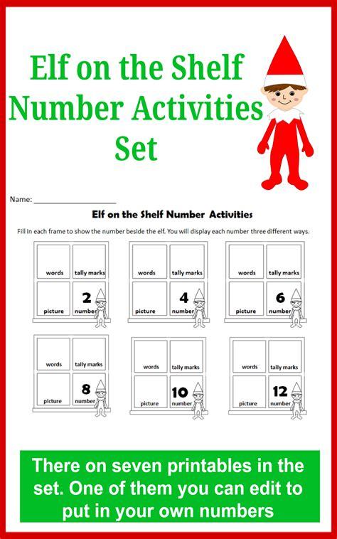 printable elf decoder elf on the shelf number activities set