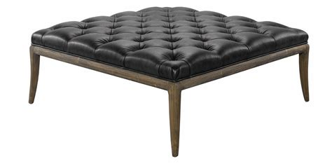tufted ottoman coffee table titus quot quick ship quot tufted leather coffee table ottoman