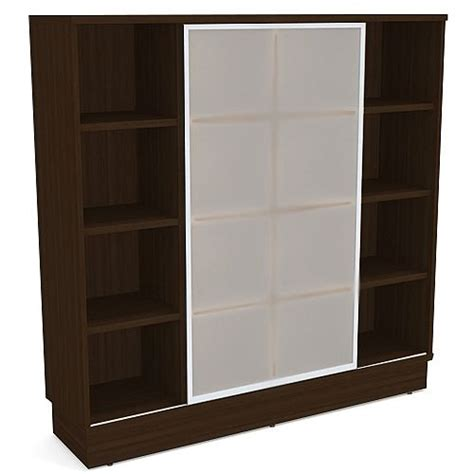 bookcase with frosted glass doors grand cube shelf bookcase with sliding frosted glass