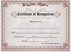 Certificate Of Recognition Template Free by 6 Certificate Of Recognition Templates Certificate Templates