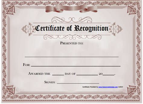 Free Printable Templates For Certificates Of Recognition by 6 Certificate Of Recognition Templates Certificate Templates