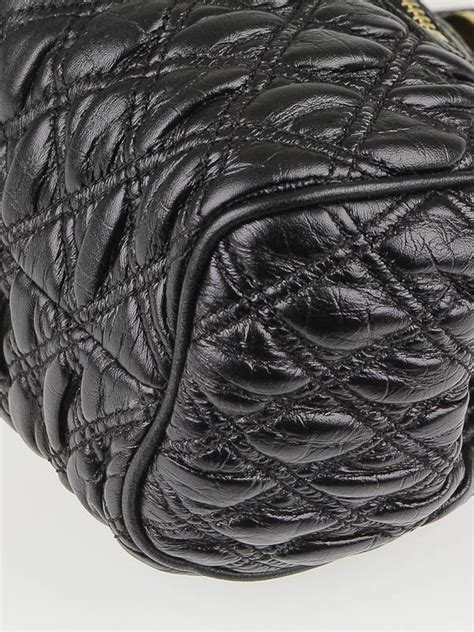 Marc The Kid Elastic Quilted Frame Bag by Marc Black Elastic Quilted Leather The Kid Stam