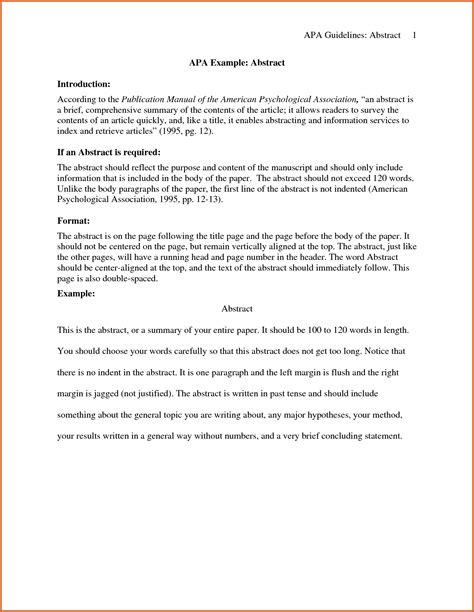 abstract template research paper abstract apa