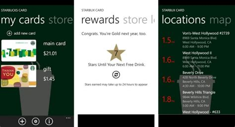 Can You Load Starbucks Gift Card To App - starbux card is the best starbucks app for windows phone winsource