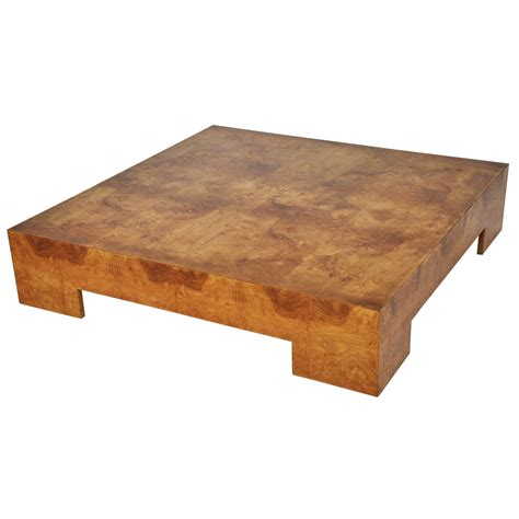 Burl Wood Coffee Table Milo Baughman Low Burl Wood Coffee Table At 1stdibs