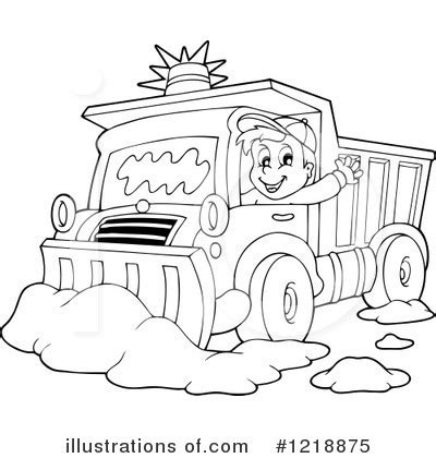 coloring page of tractor and snow plow snow plow clipart 1218875 illustration by visekart