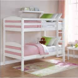 wood bunk bed mainstays wood bunk bed with set of 2