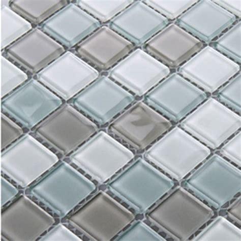 wholesale mosaic tile crystal glass backsplash kitchen crystal glass tile sheets square tiling mosaic pattern