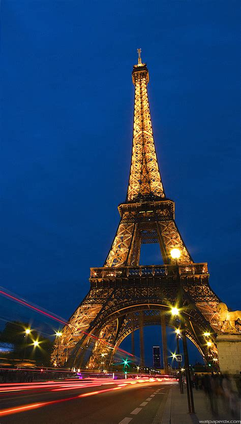wallpaper hd android paris eiffel tower lock screen night full hd android wallpaper
