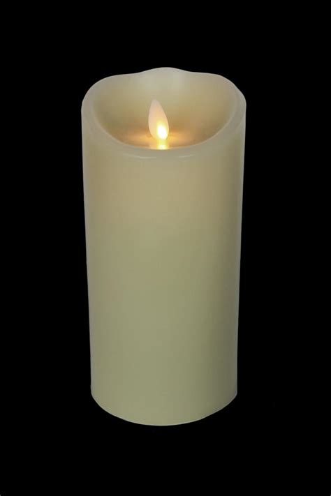 luminara candele 7 quot luminara flameless candle ivory wax with vanilla scent
