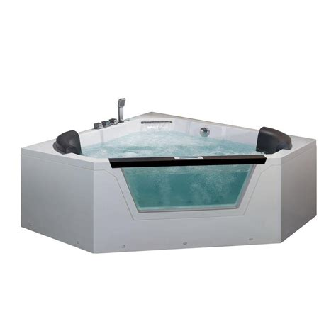 5 foot whirlpool bathtub ariel 5 ft whirlpool tub in white am156jdtsz the home depot