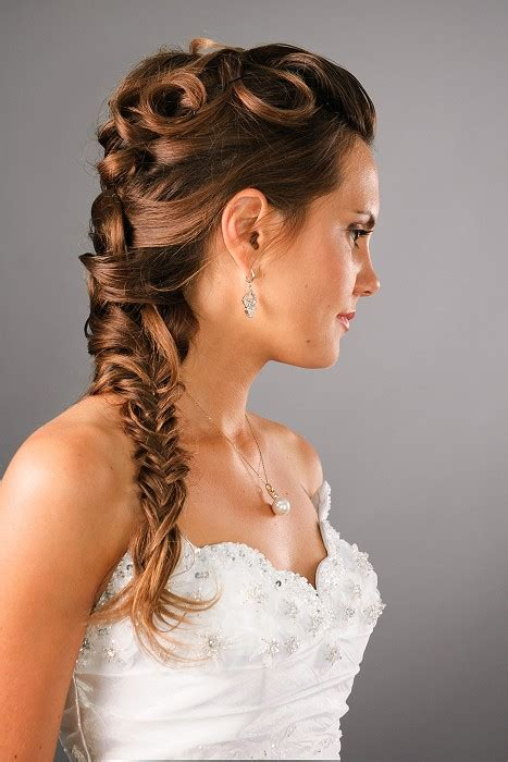 1920s hairstyle for braids a long brown hairstyle from the wedding collection no 21678