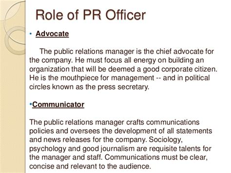 Relations Officer by Relations