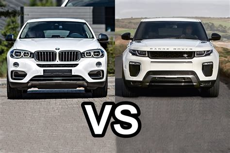 2016 range rover evoque vs 2016 bmw x6 design